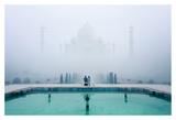 Misty Taj Mahal Art by Karthi KN Raveendiran