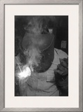Welder Posters by Ansel Adams