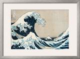 "The Great Wave Off Kanagawa, from the Series ""36 Views of Mt. Fuji"" (""Fugaku Sanjuokkei"") Framed Giclee Print by Katsushika Hokusai"