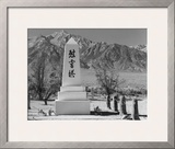 Monument in Cemetery Posters by Ansel Adams