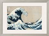 "The Great Wave of Kanagawa, from the Series ""36 Views of Mt. Fuji"" (""Fugaku Sanjuokkei"") Framed Giclee Print by Katsushika Hokusai"