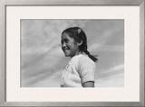 Girl Smiling Print by Ansel Adams