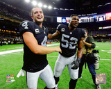 Derek Carr & Khalil Mack 2016 Action Photo