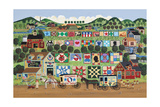 Quilt Valley Farm Giclee Print by Anthony Kleem