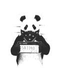 Bad Panda Gicléetryck av Balazs Solti