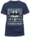 Batman- Distressed Holday Cheer Logo Bluser