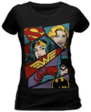 Juniors: DC Comics- Heroine Pop Art T-Shirts