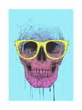 Pop Art Skull with Glasses Giclee Print by Balazs Solti