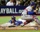 Josh Donaldson scores the game winning run Game 3 of the 2016 American League Division Series Photo