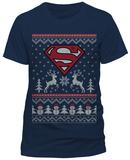 Superman- Winter Wonderland Shield (Slim Fit) T-shirts