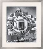 Balcony Print by M. C. Escher
