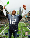 Ken Griffey Jr. after raising the 12th man flag at Centurylink Field in Seattle Photo