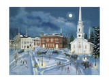 Berkshire Green in Winter (Lee Mass) Giclee Print by Bob Fair