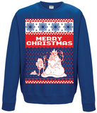 Crewneck Sweatshirt: Adventure Time- Merry Christmas Koszulka