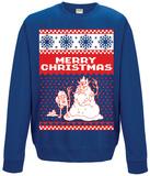 Crewneck Sweatshirt: Adventure Time- Merry Christmas T-Shirts