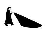 A vampire with a darkness flashlight - New Yorker Cartoon Premium Giclee Print by Seth Fleishman