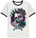 Suicide Squad- Joker Insane Collage Ringer T-shirt