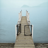 Menaggio Pier Photographic Print by Alan Blaustein
