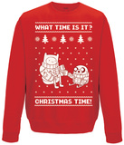 Crewneck Sweatshirt: Adventure Time- Christmas Time! T-Shirt