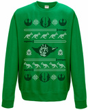 Crewneck Sweatshirt: Star Wars- Holiday Knit Yoda Head T-Shirts
