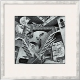 Relativity Posters by M. C. Escher