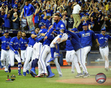 The Toronto Blue Jays celebrate winning Game 3 of the 2016 American League Division Series Photo