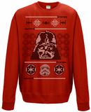 Crewneck Sweatshirt: Star Wars- Holiday Knit Vader Head Xmas T-Shirt
