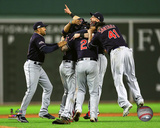 The Cleveland Indians celebrate winning Game 3 of the 2016 American League Division Series Photo