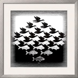 Sky and Water Posters by M. C. Escher