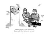 """""""Orange you glad I didn't say banana But seriously, that's the last time ... - New Yorker Cartoon Giclee Print by Avi Steinberg"""