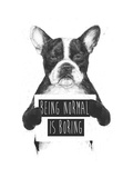 Being Normal Is Boring Giclee Print by Balazs Solti