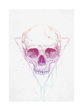 Skull in Triangle Giclee Print by Balazs Solti
