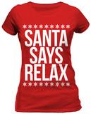 Juniors: Santa Says Relax - Tişört