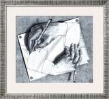 Drawing Hands Prints by M. C. Escher