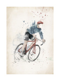 I Want to Ride My Bicycle Giclee Print by Balazs Solti