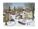 Christmas Sleigh Lámina giclée por Bob Fair