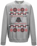 Crewneck Sweatshirt: Star Wars- Holiday Knit Darkside Decor T-Shirts