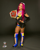 Sasha Banks with Championship Belt 2016 Photo