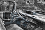 Buick Lesabre Interior BW Photographic Print by Bob Rouse