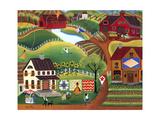 Country Kite Quilt Lemonade Impression giclée par Cheryl Bartley