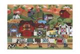 Sunset at Old Country Village Giclée-Druck von Cheryl Bartley