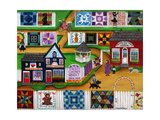 Calico Corner Country Quilt Show Giclee Print by Cheryl Bartley