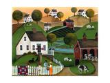 Flower Lady Dairy Farm Cheryl Bartley Reproduction procédé giclée par Cheryl Bartley