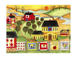 Sunrise Farm Apple Quilts 4 Sale Cheryl Bartley Giclee Print by Cheryl Bartley