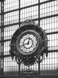 Paris Clock 1BW Photographic Print by Chris Bliss