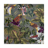 Bird Paradise Neutral Giclee Print by Bill Jackson