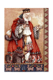 Father Christmas and Cats Giclee Print by Anne Yvonne Gilbert
