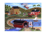 Strawberry Market Antiques Cheryl Bartley Giclee Print by Cheryl Bartley