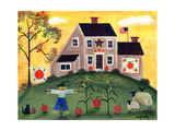 Scarecrow Pumpkin Sheep Cheryl Bartleypsd Giclee Print by Cheryl Bartley