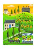 Sunflower Inspiration Farm Cheryl Bartley Impression giclée par Cheryl Bartley